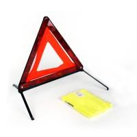 Kit de sécurité voiture éco : triangle signalisation & gilet jaune
