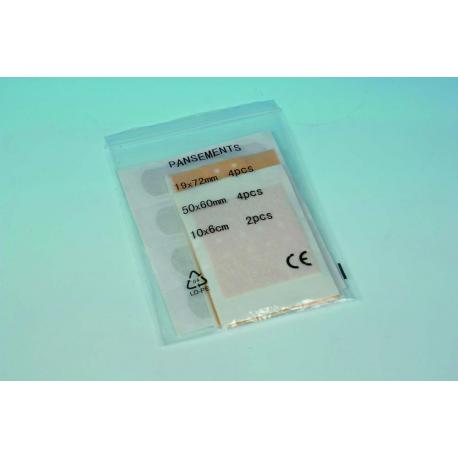 Pochette de 10 pansements adhésifs